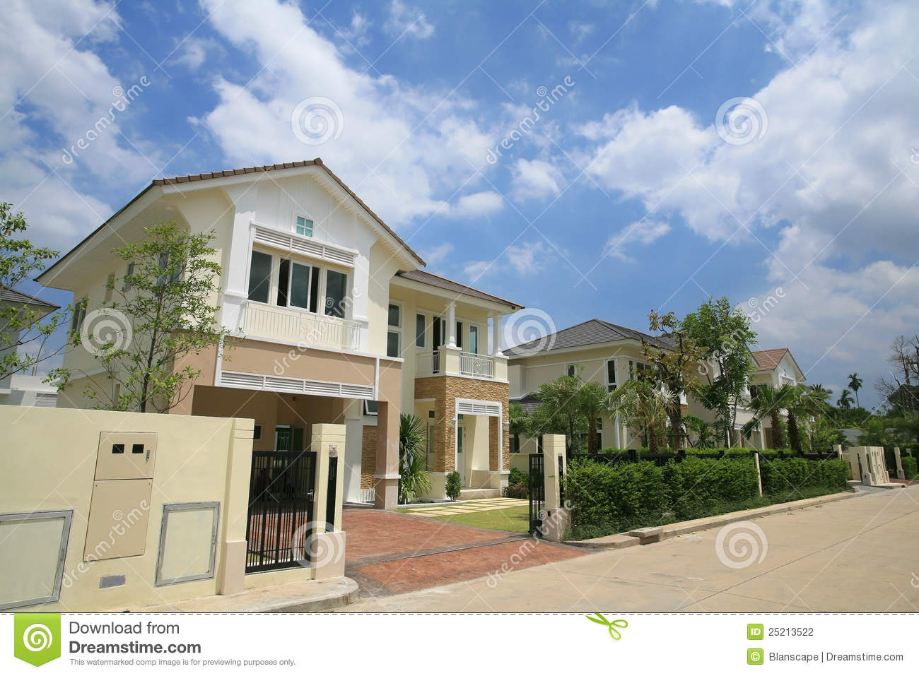 Luxury Modern House Exterior Stock Photo Image 25213522