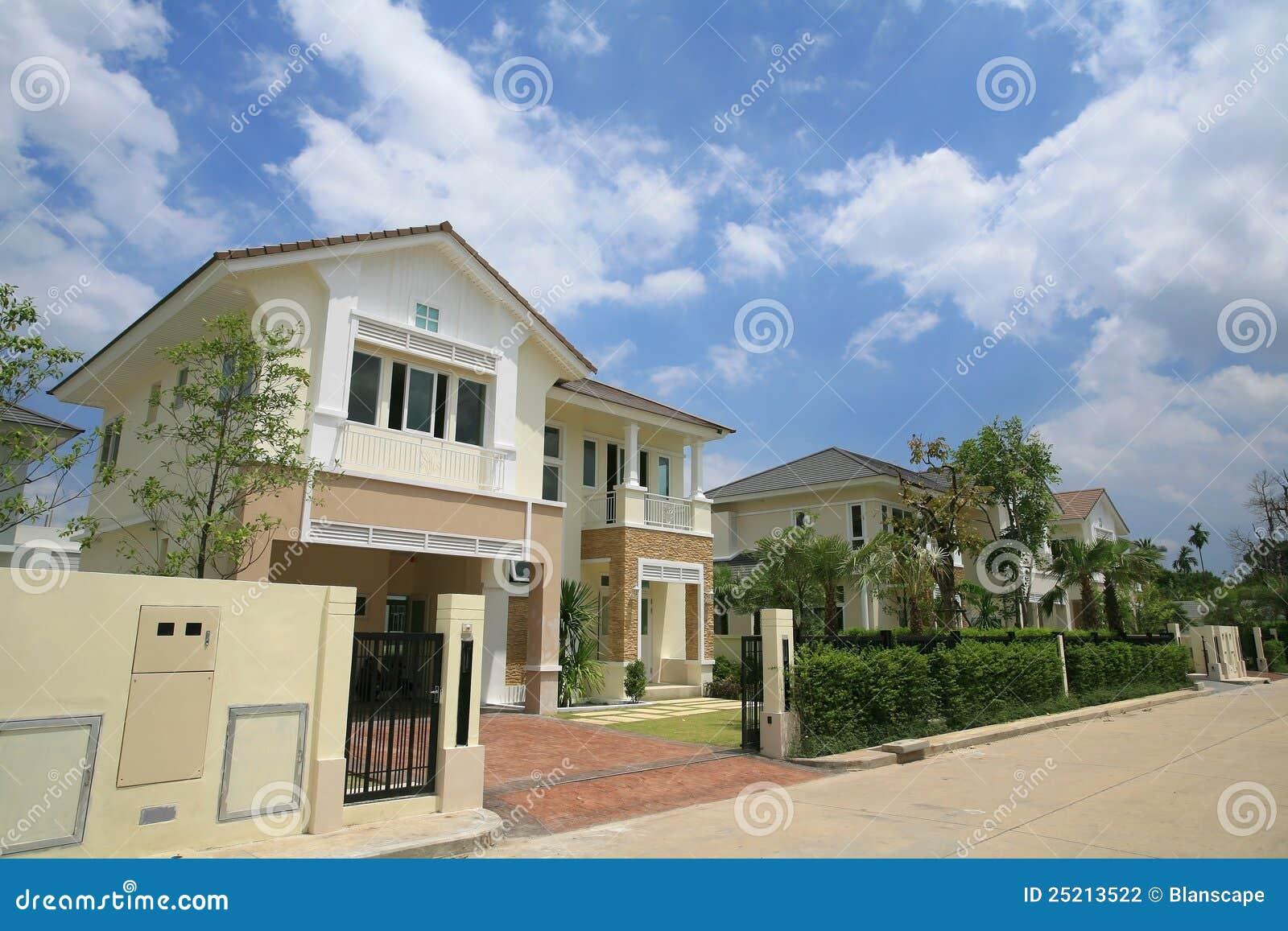 Luxury Modern House Exterior Stock Photography Image