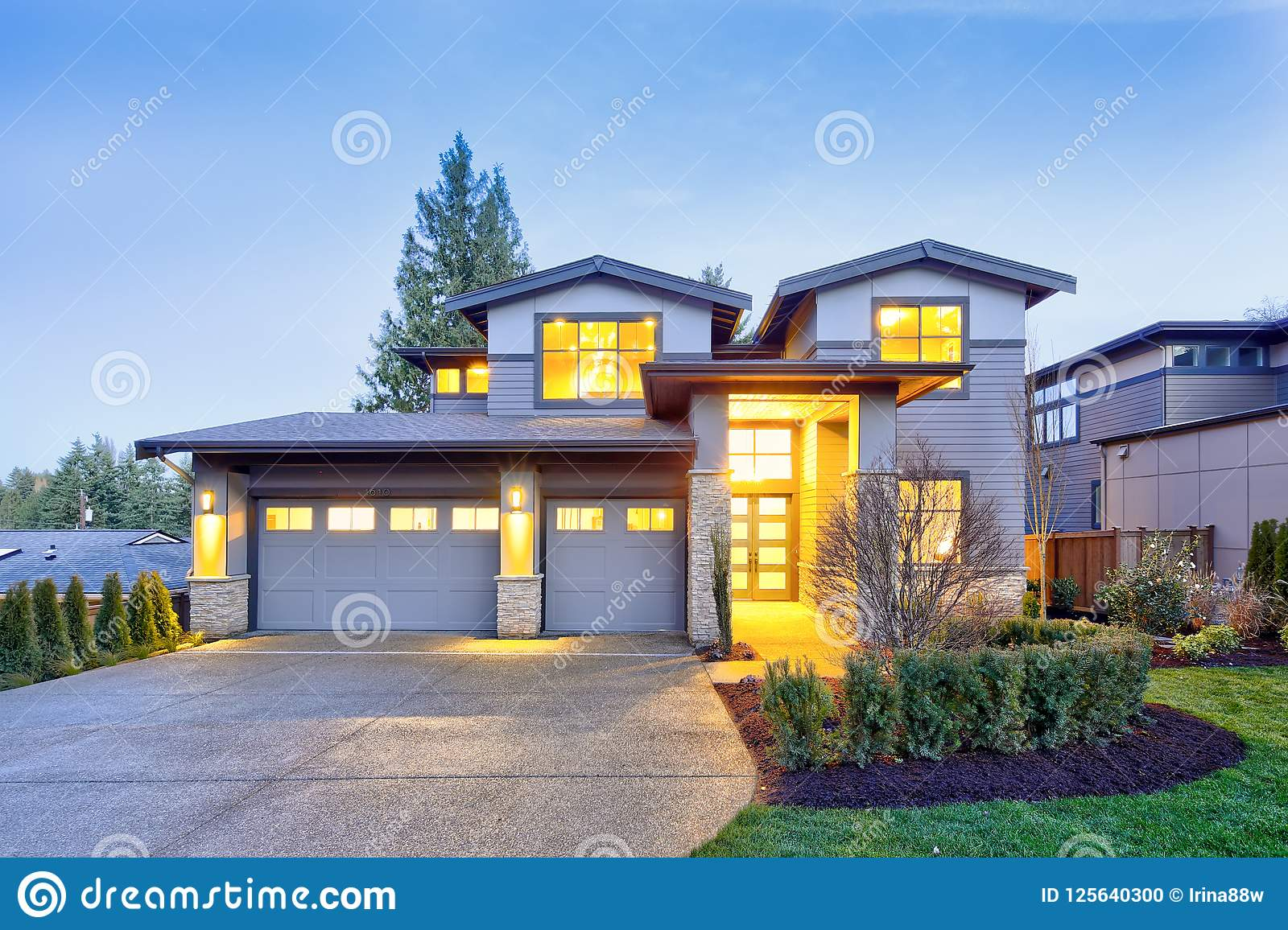 Grey Luxury Modern Two Story Tall House Exterior With Stone Columns on front entrance way designs, stone garage designs, stone bedroom designs, stone deck designs, front door entrance designs, stone yard designs, deck entrance designs, stone interior designs, stone wall designs, rock entrance designs, stone pond designs, stone garden designs, front step designs, driveway entrance designs, neighborhood entrance designs, front entry designs, brick entrance designs, entrance landscape designs, stone patio designs, subdivision entrance designs,