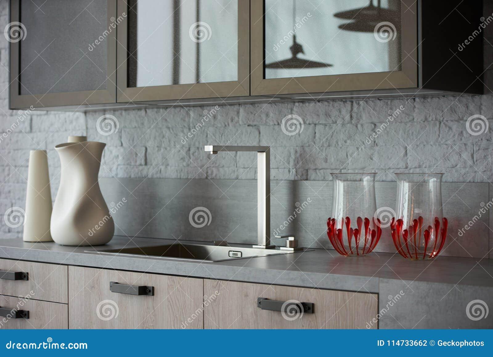 Luxury Modern Kitchen Interior Stock Photo Image Of Clean Kitchen
