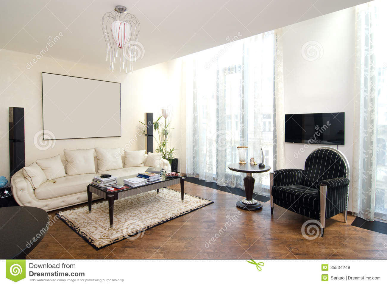 Luxury modern living room royalty free stock images for Salon moderne de luxe