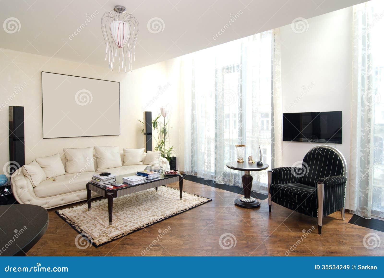 Luxury modern living room stock image image of modern for Salon de luxe moderne
