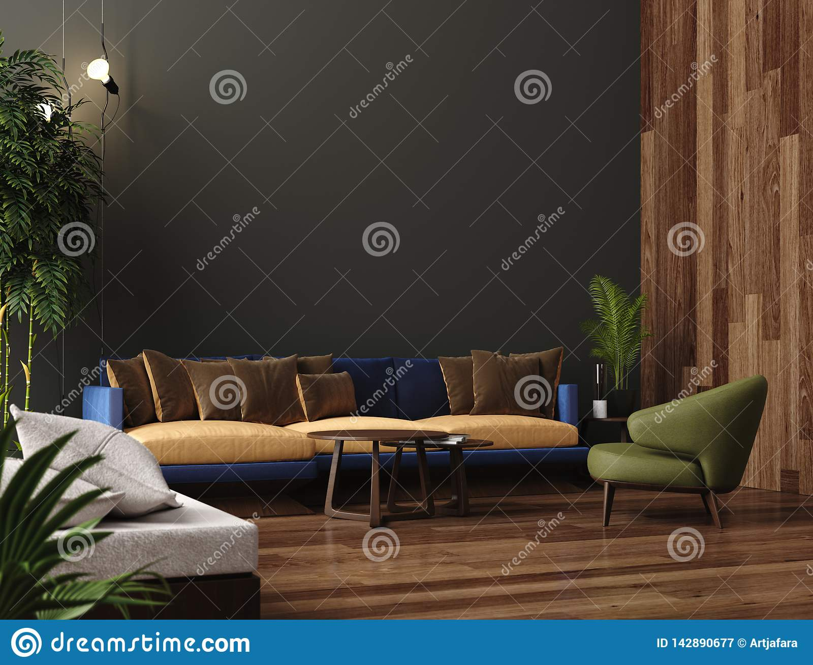 Enjoyable Luxury Modern Living Room Interior Dark Green Brown Wall Creativecarmelina Interior Chair Design Creativecarmelinacom