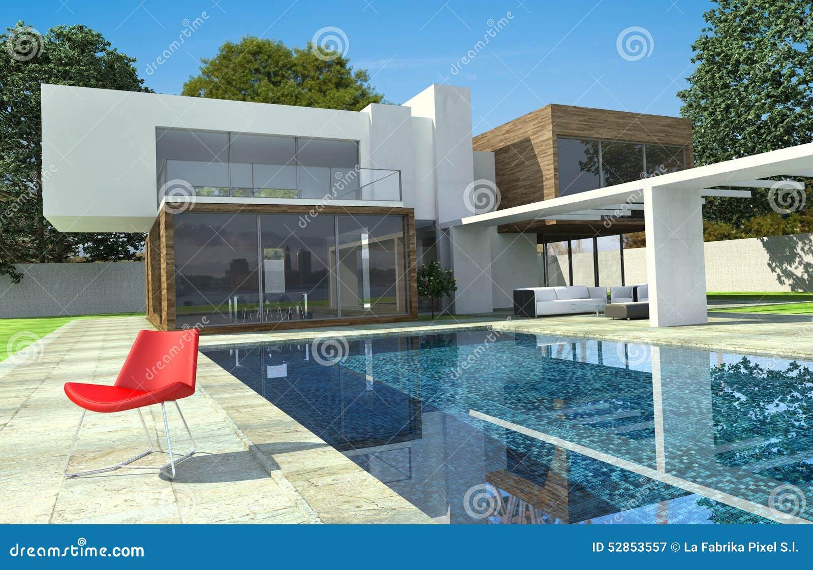 Modern Mansion Exterior luxury modern mansion exterior stock illustration - image: 52853557