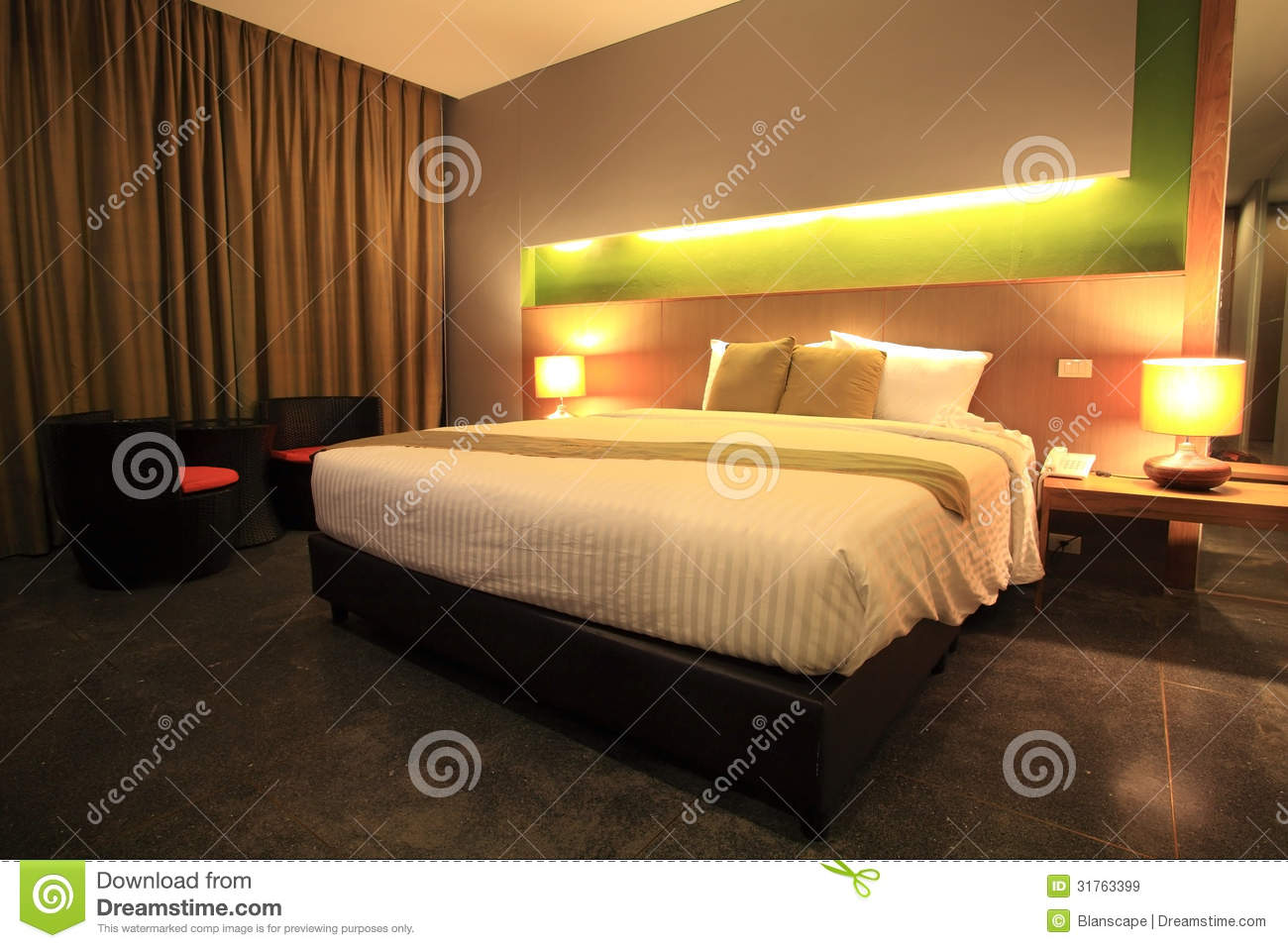 Luxury Modern Master Bedroom Stock Image