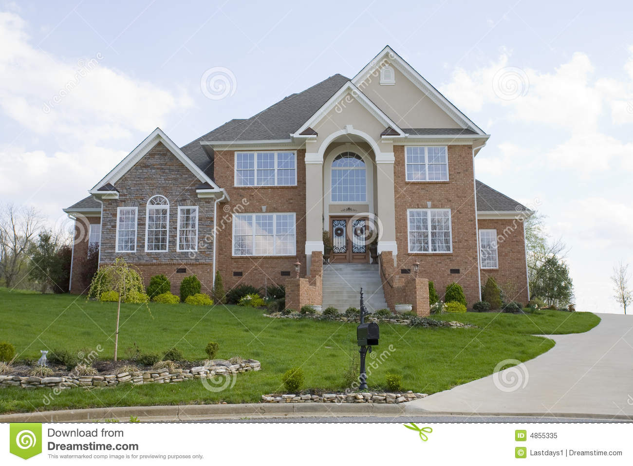 Luxury new homes for sale royalty free stock photo image for Free luxury home images