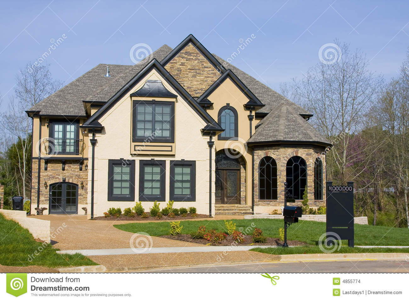 Luxury new homes for sale stock images image 4855774 for Elegant homes for sale