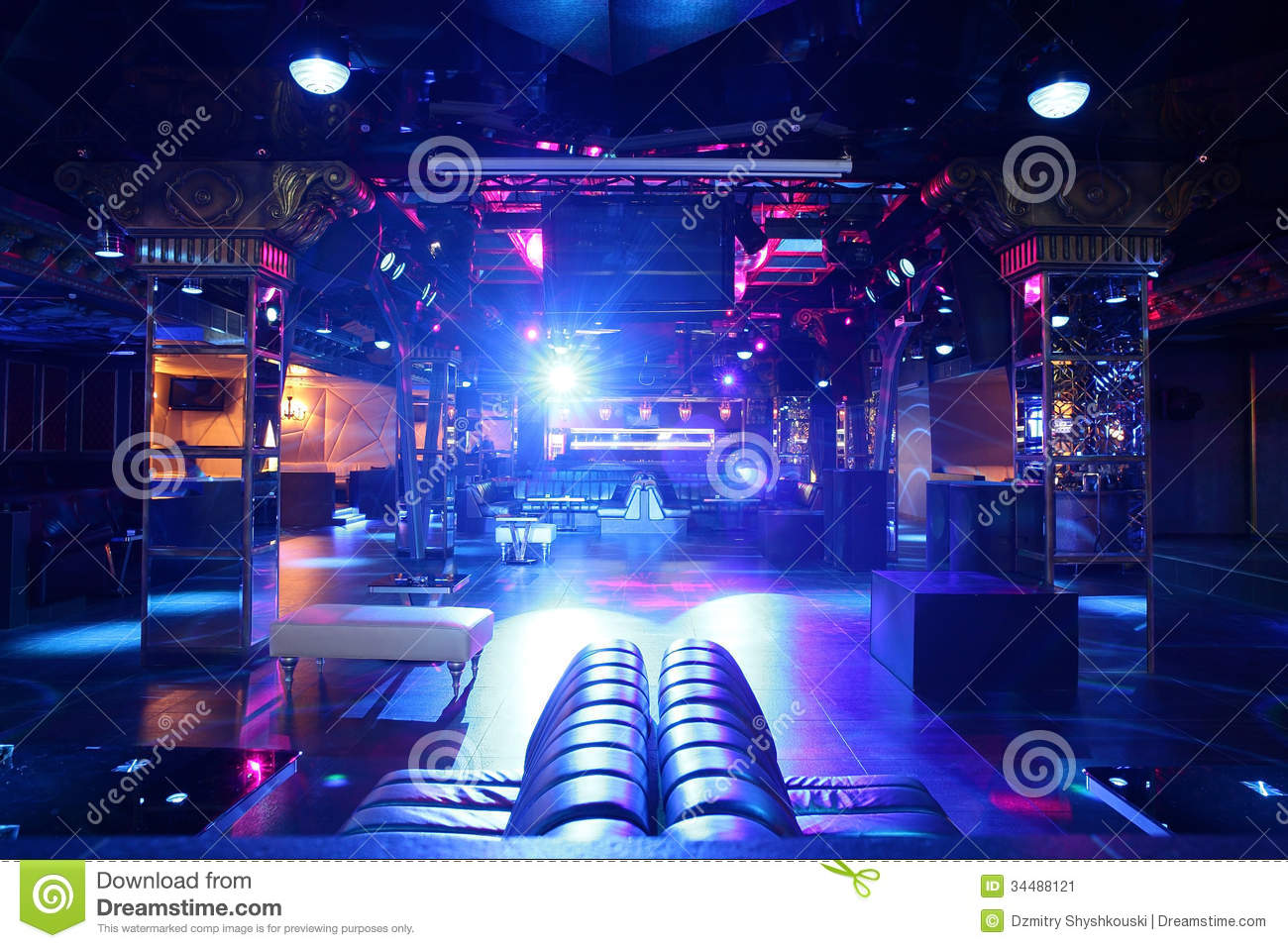 Luxury Night Club In European Style Stock Image Image