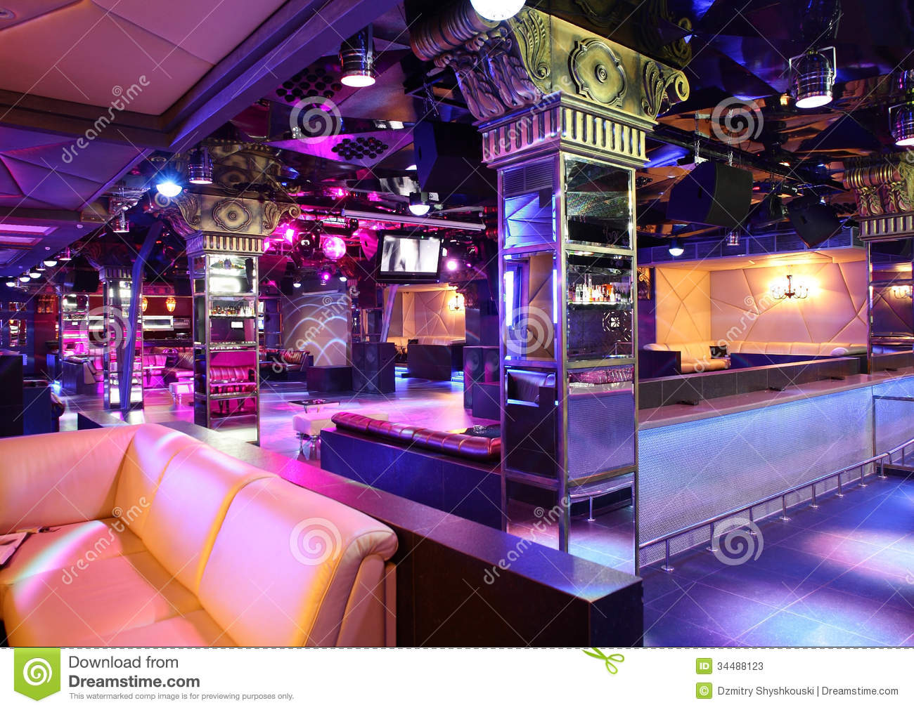 Luxury Night Club In European Style Stock Photos Image