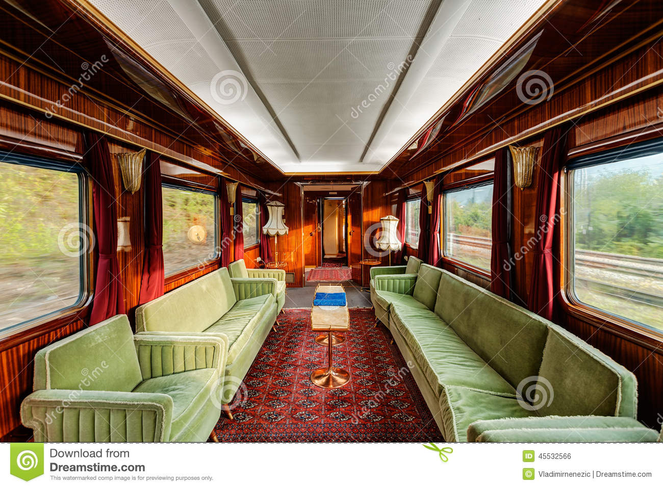 luxury old train carriage stock photo image 45532566. Black Bedroom Furniture Sets. Home Design Ideas