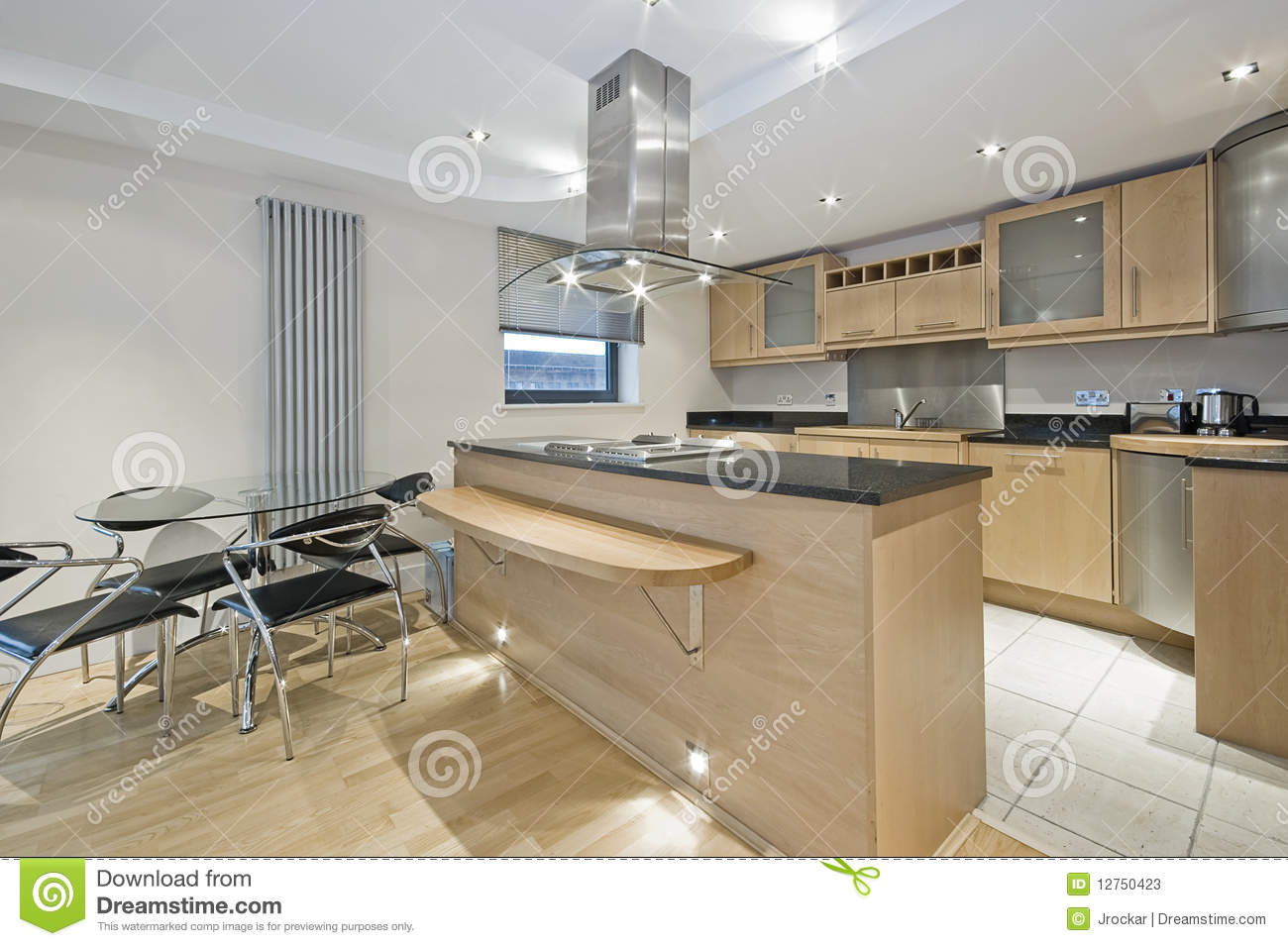 Luxury open plan apartment stock image image of counter for Apartment stock plans