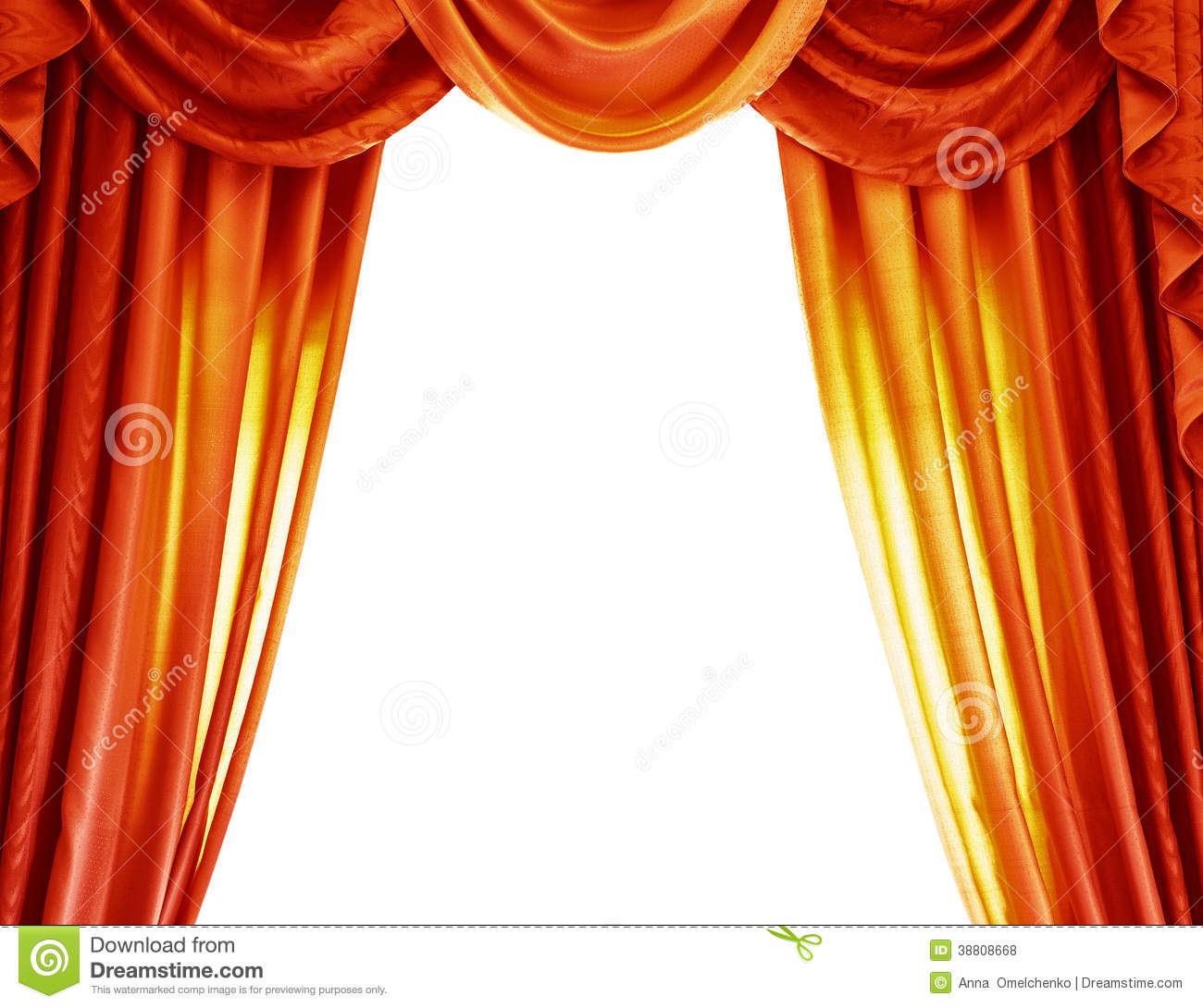 White background abstract border open curtain theatre theatrical