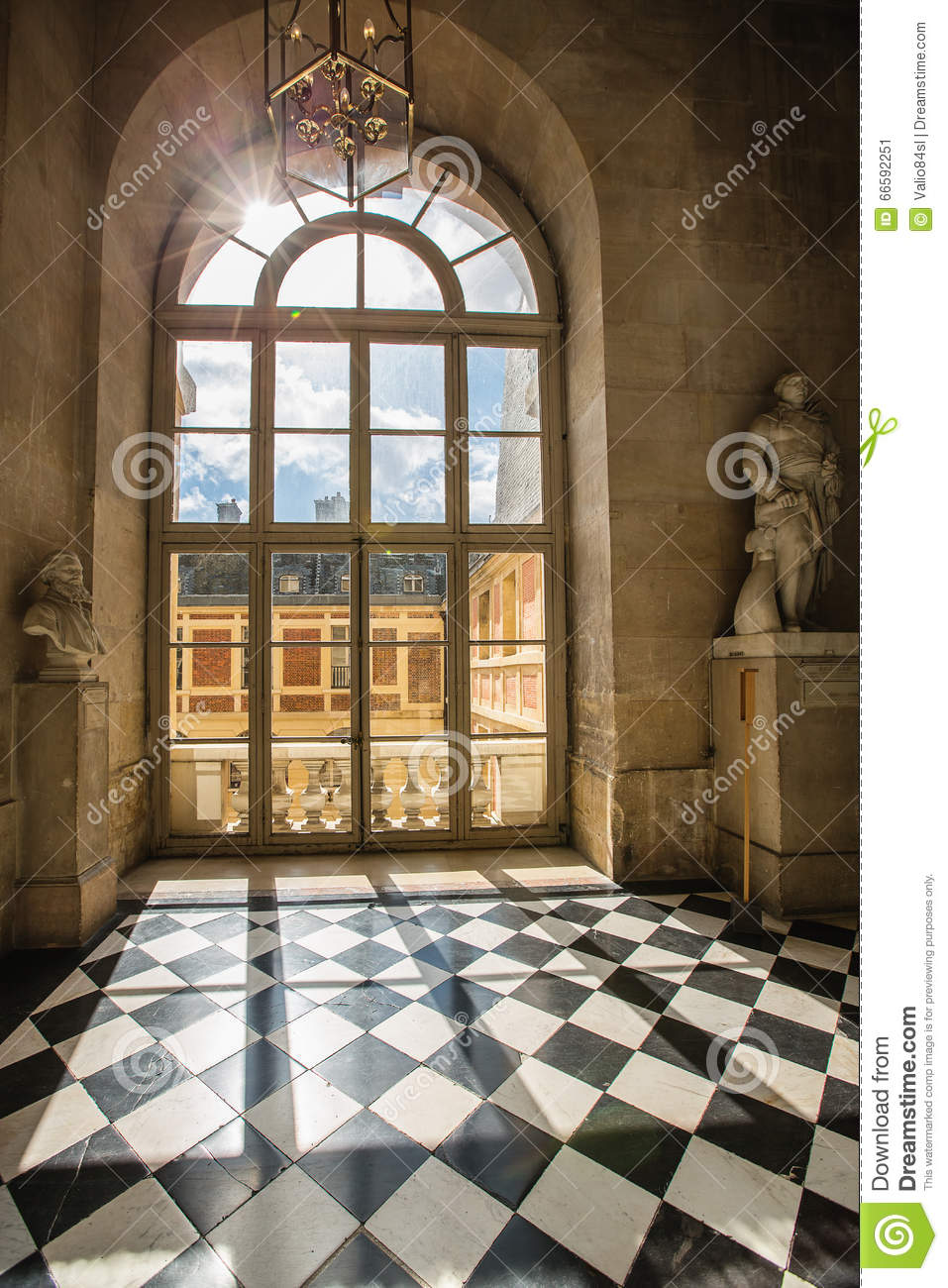 Download Luxury Palace Glass Windows In Versailles Palace, France Stock  Image   Image Of Light