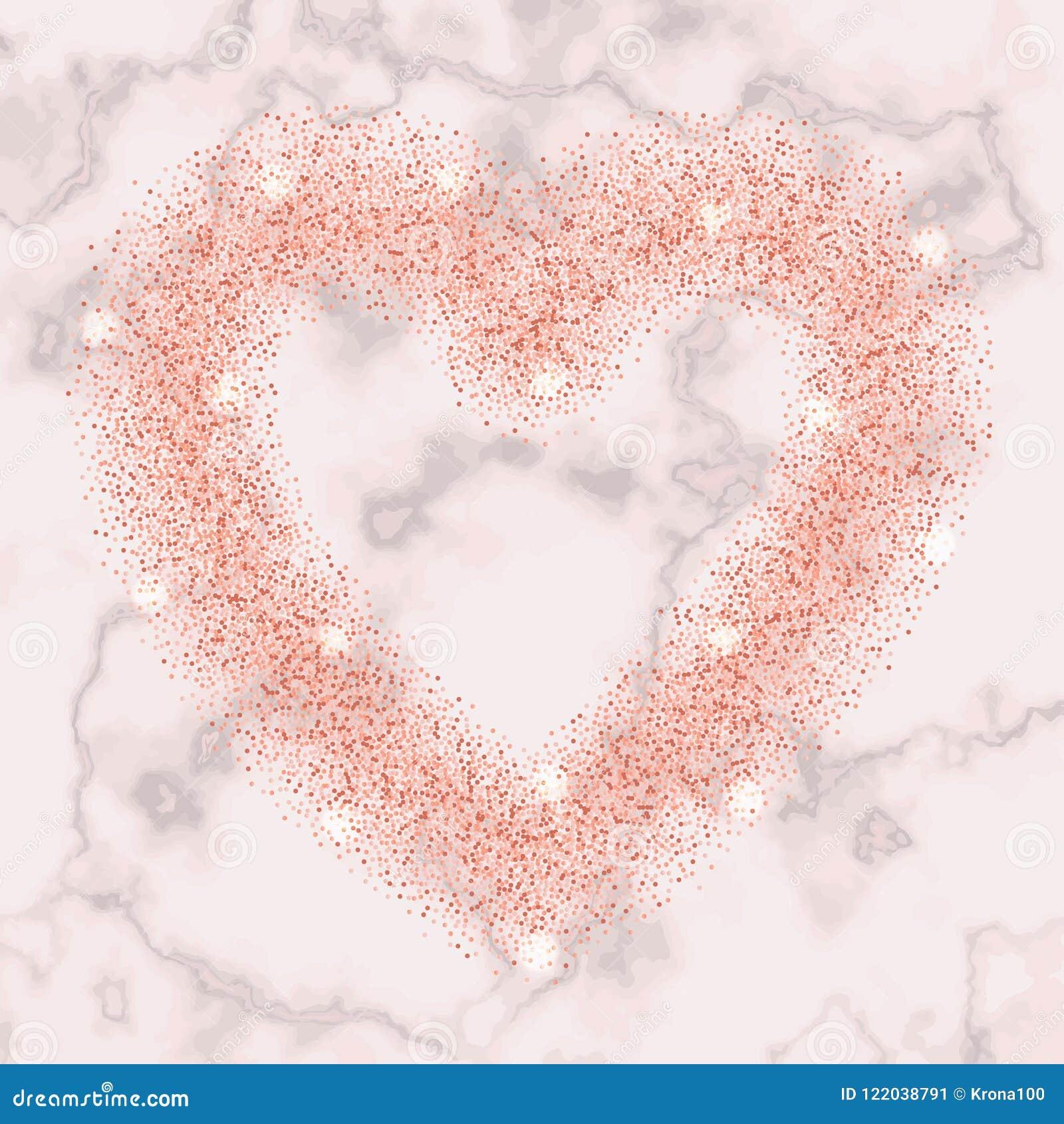 Luxury Pink Gold Glitter Heart Frame Stock Vector Illustration Of Card Gold 122038791