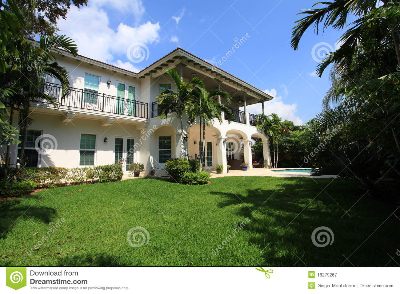 Luxury pool home royalty free stock photography image for Free luxury home images