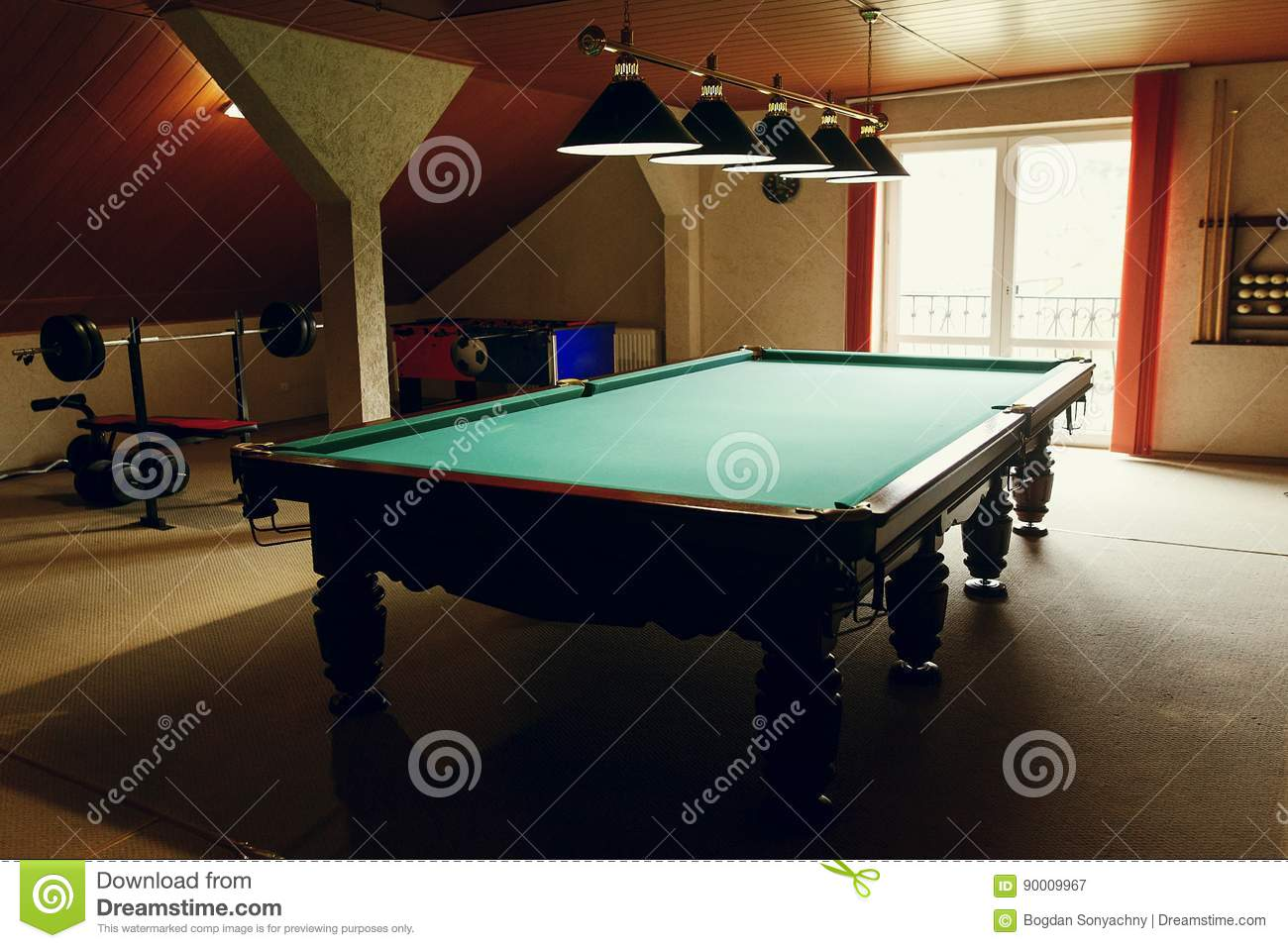 Luxury Pool Table At Recreation Room In Rehabilitation Centre In