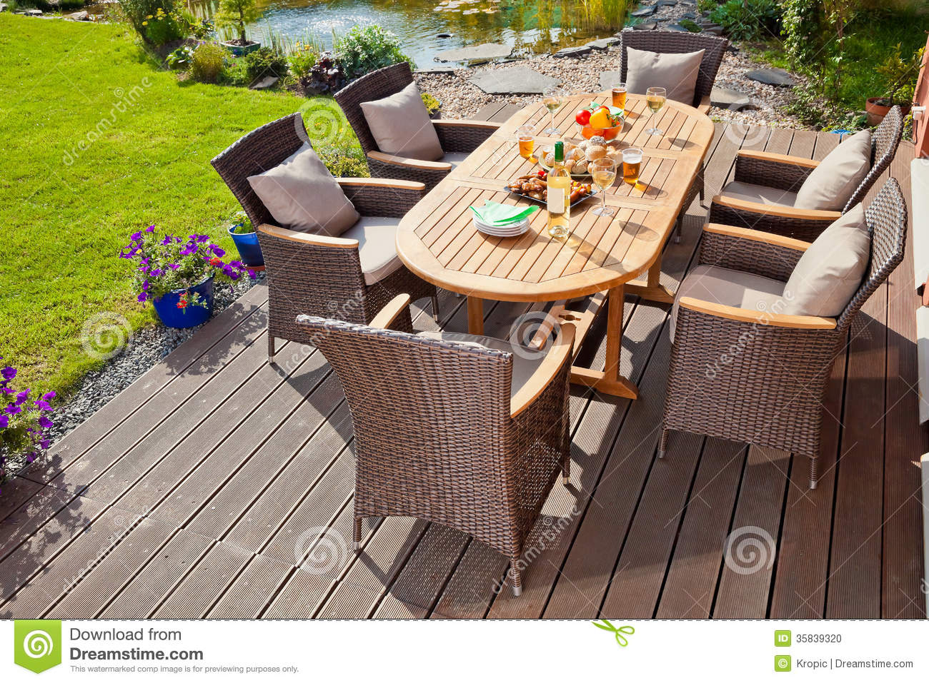 Luxury rattan garden furniture stock photo image 35839320 for Luxury garden furniture