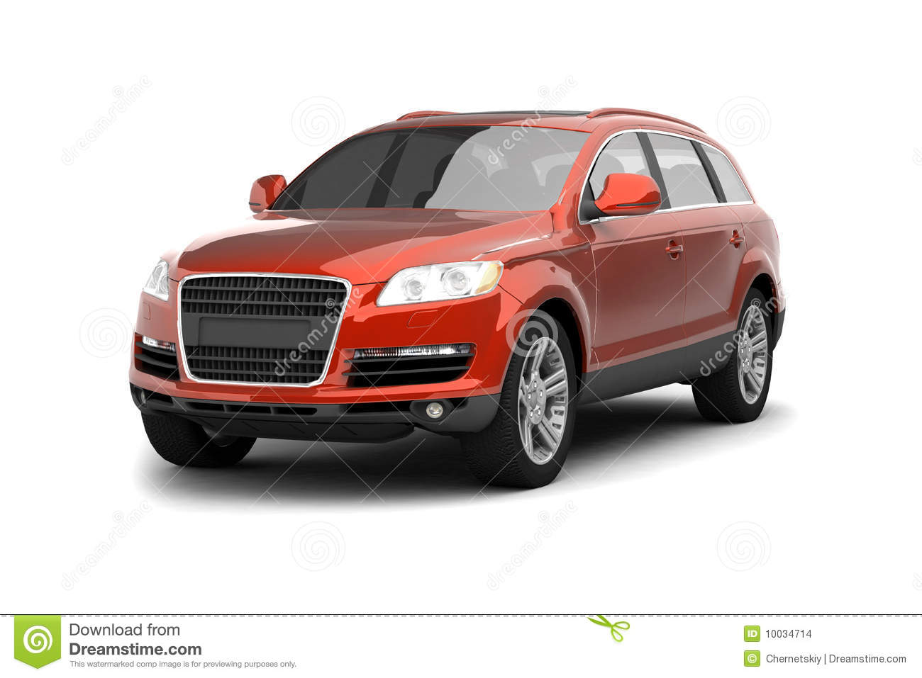 Luxury Red Crossover Suv Stock Images Image