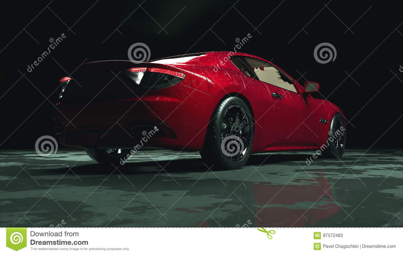 Luxury Red Sport Car With Water Drops. Photorealistic 4K Animation. Stock  Video   Video Of Illustration, Fast: 87572483