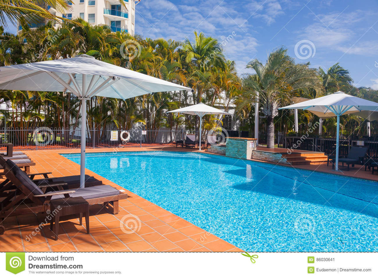 A Luxury Resort At Daylight Stock Image Image Of Tree