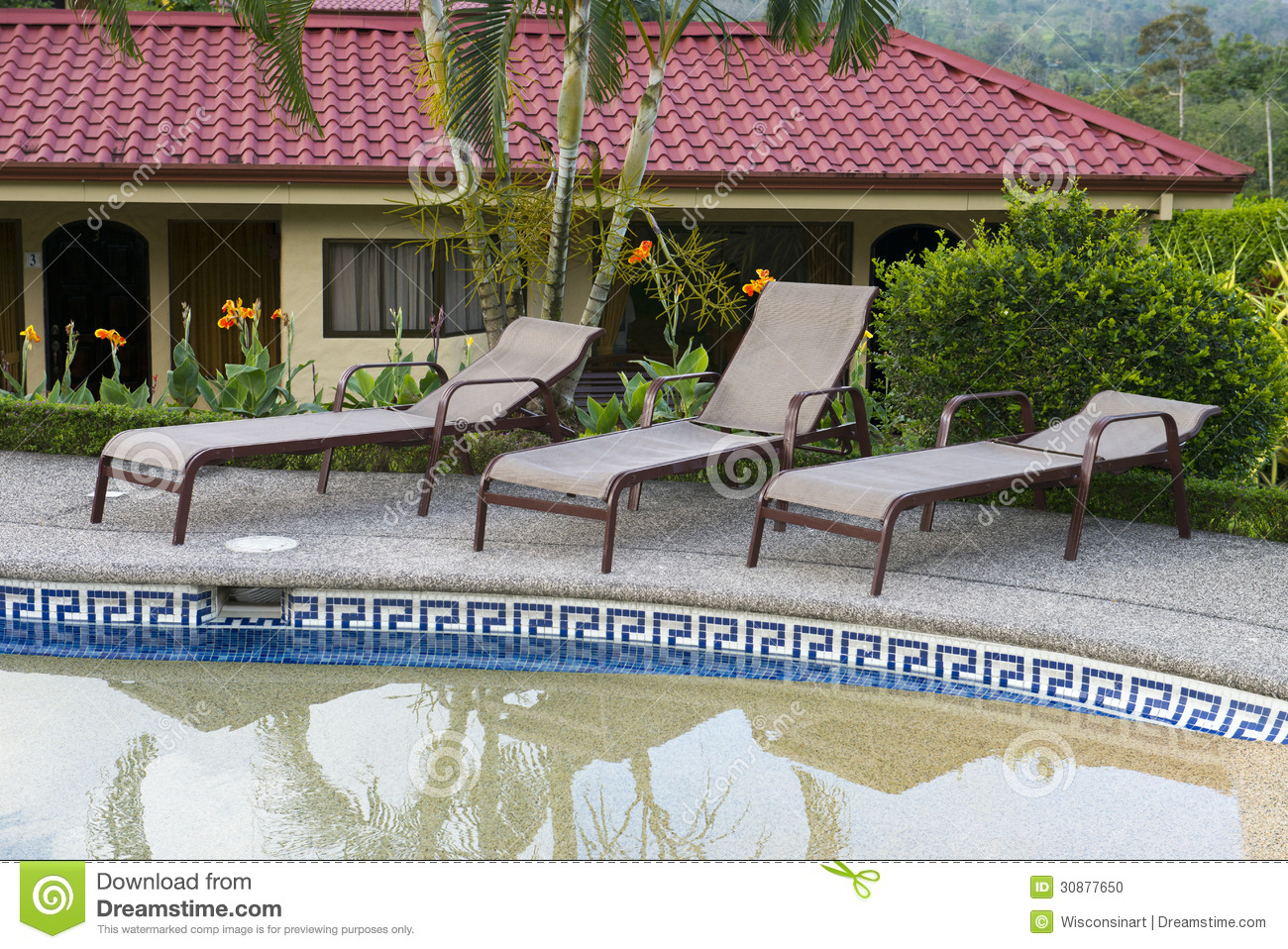 Luxury Resort Hotel And Swimming Pool Lounge Area Stock Photo Image 30877650