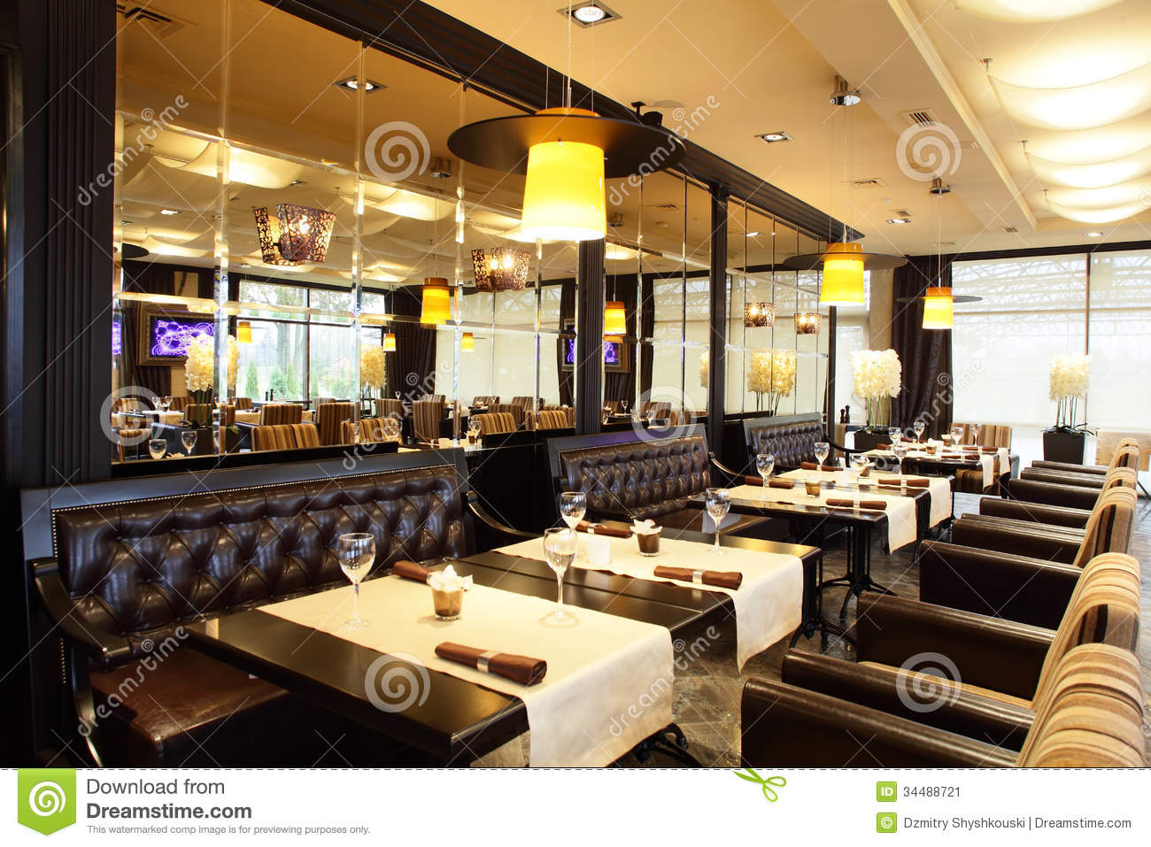luxury restaurant in european style stock image image of downtown luxury 34488721. Black Bedroom Furniture Sets. Home Design Ideas