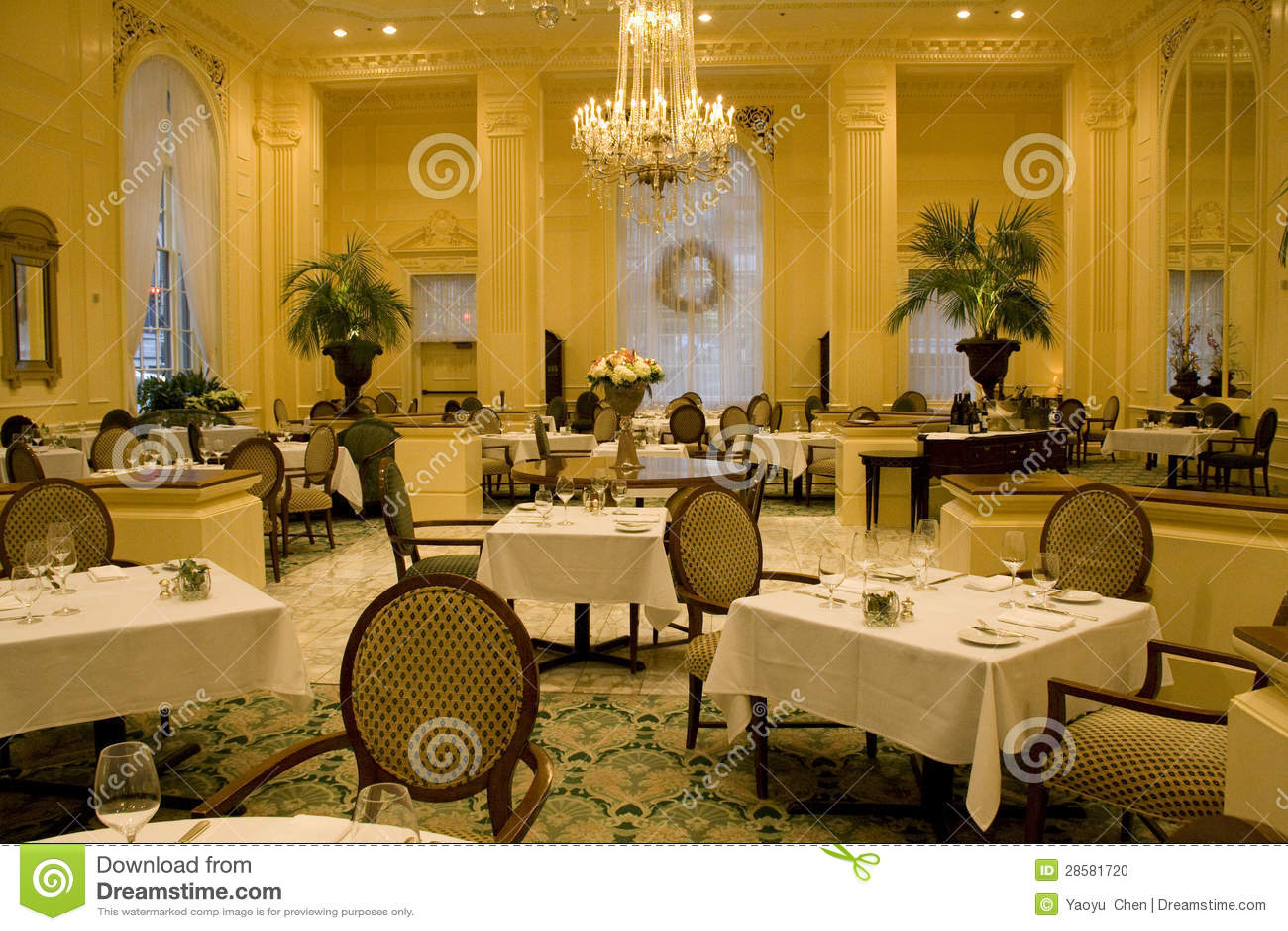 luxury restaurant with elegant interior designs