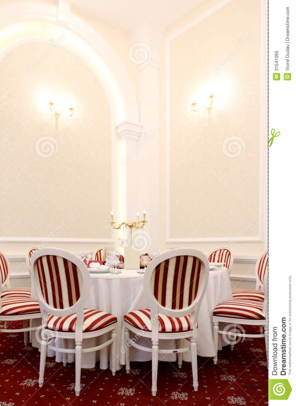Luxury restaurant table and chairs royalty free stock - Chaise de luxe design ...