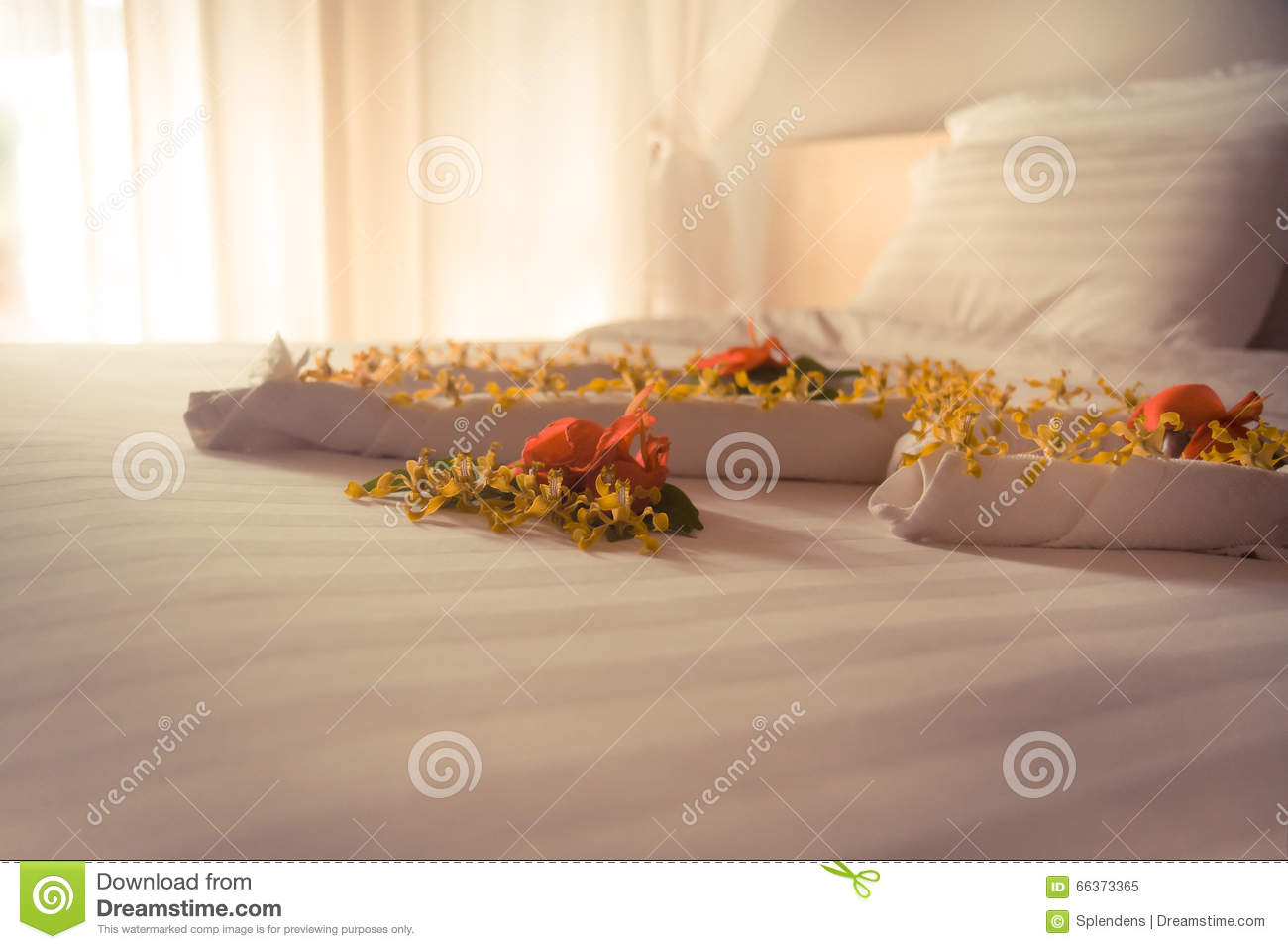 Luxury Romantic Hotel Suite Room For Just Married Couple Stock Image