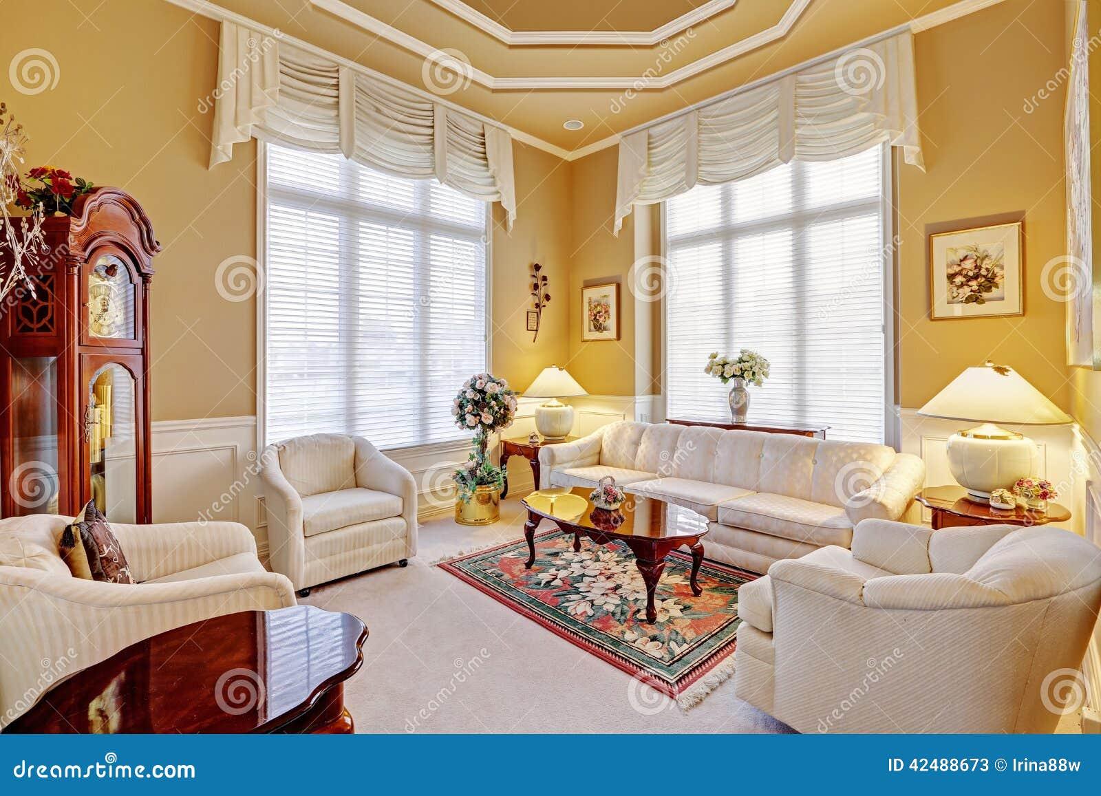 Luxury Room Interior With Antique Furniture Stock Photo