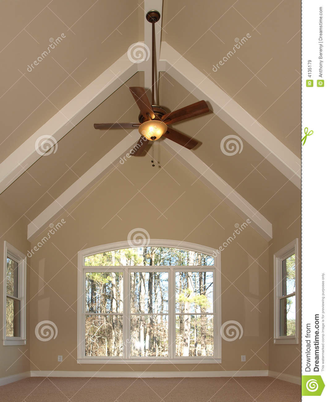 Luxury room with vaulted ceiling stock image image of for Vaulted vs cathedral ceiling