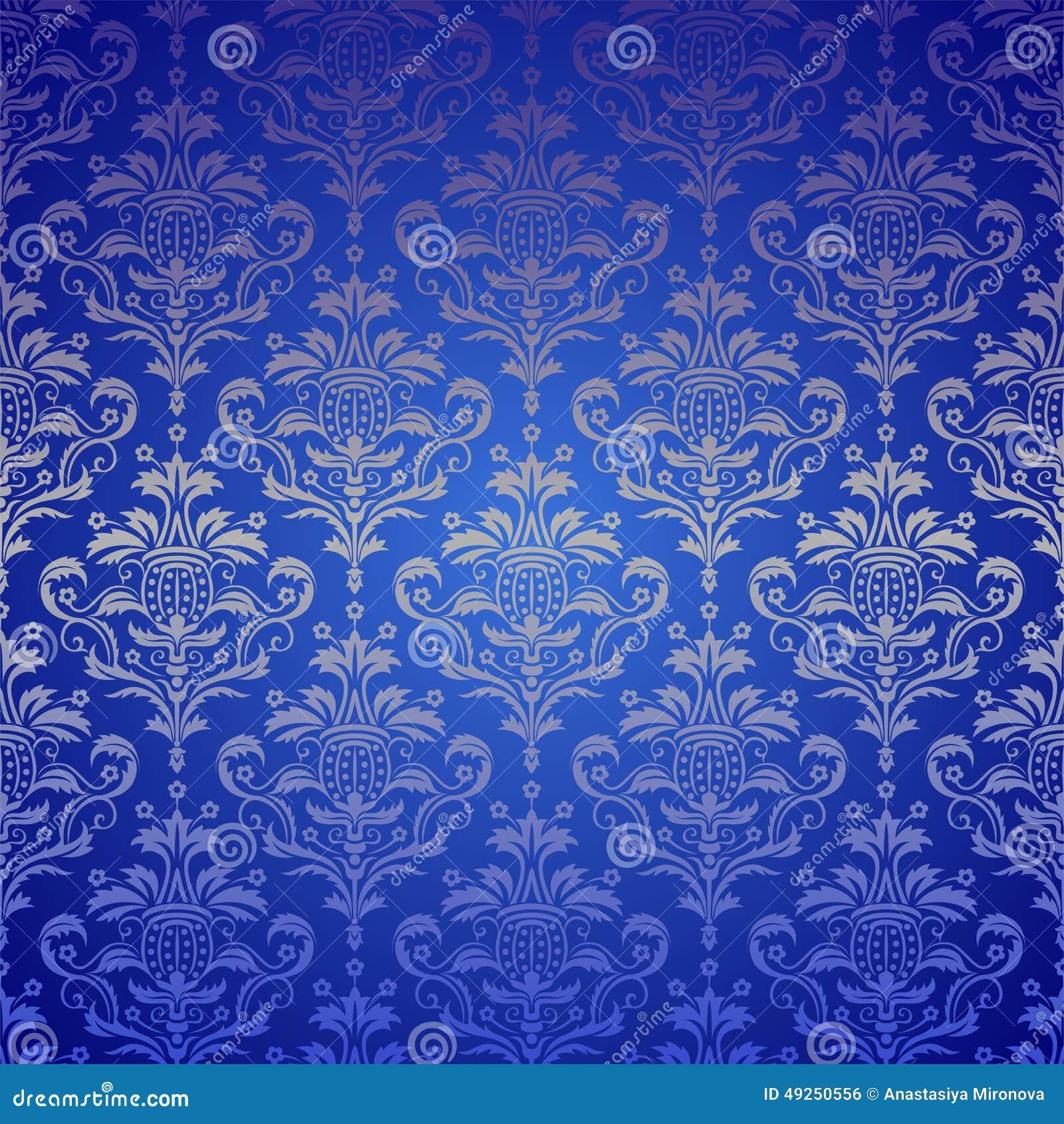 Blue Color Design Wallpaper Karice