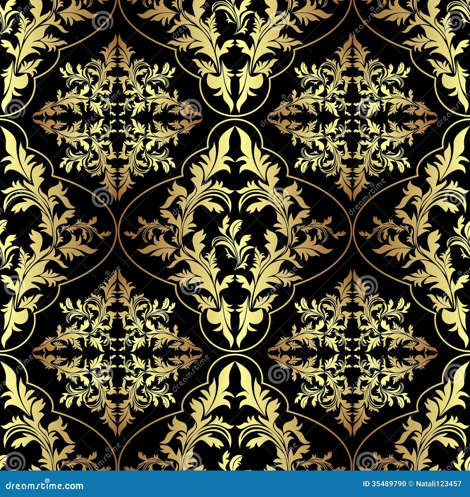 Luxury Seamless Ornamental Wallpaper Stock Vector