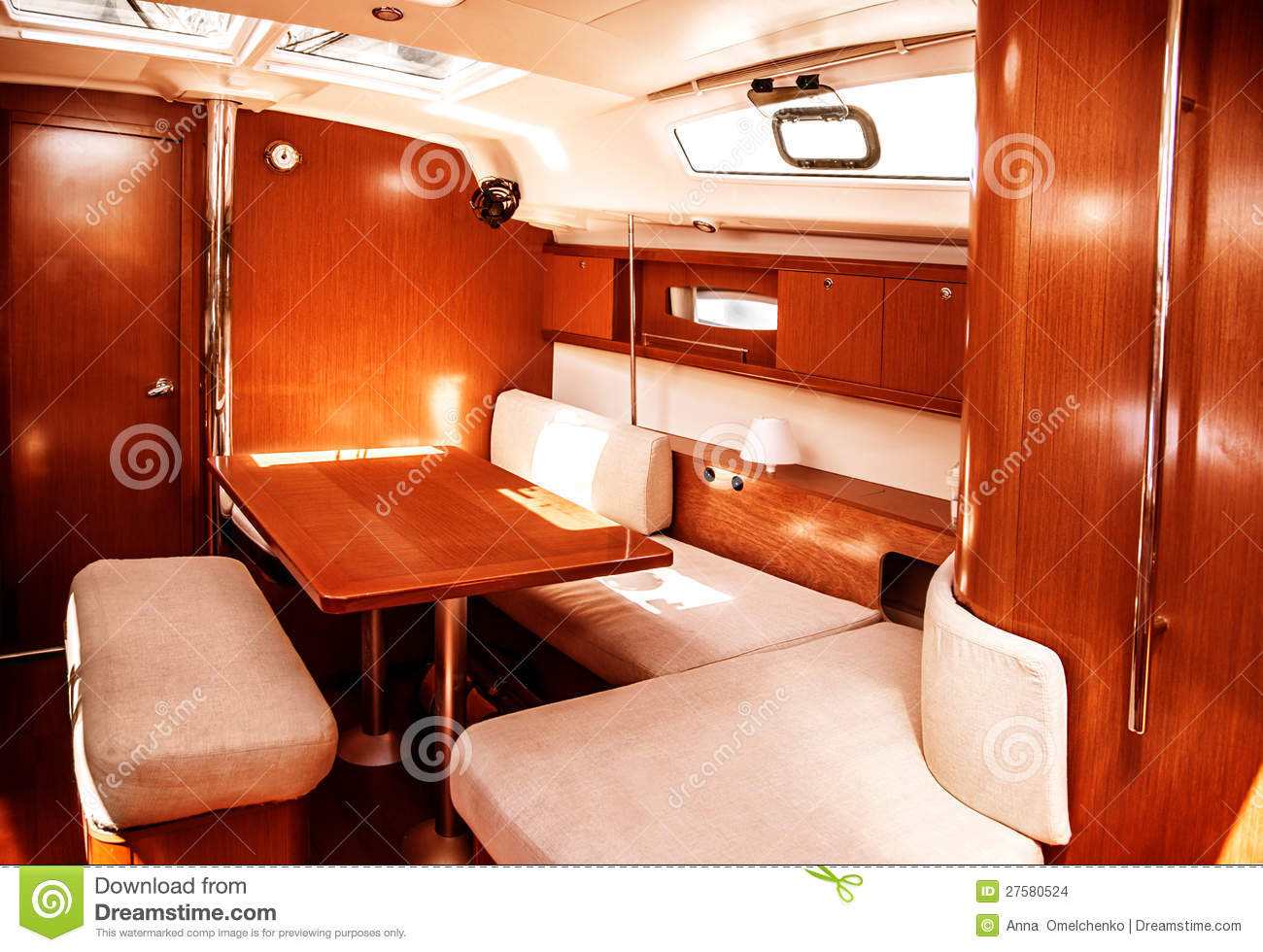 Luxury ship interior stock images image 27580524 for Interieur bateau bois