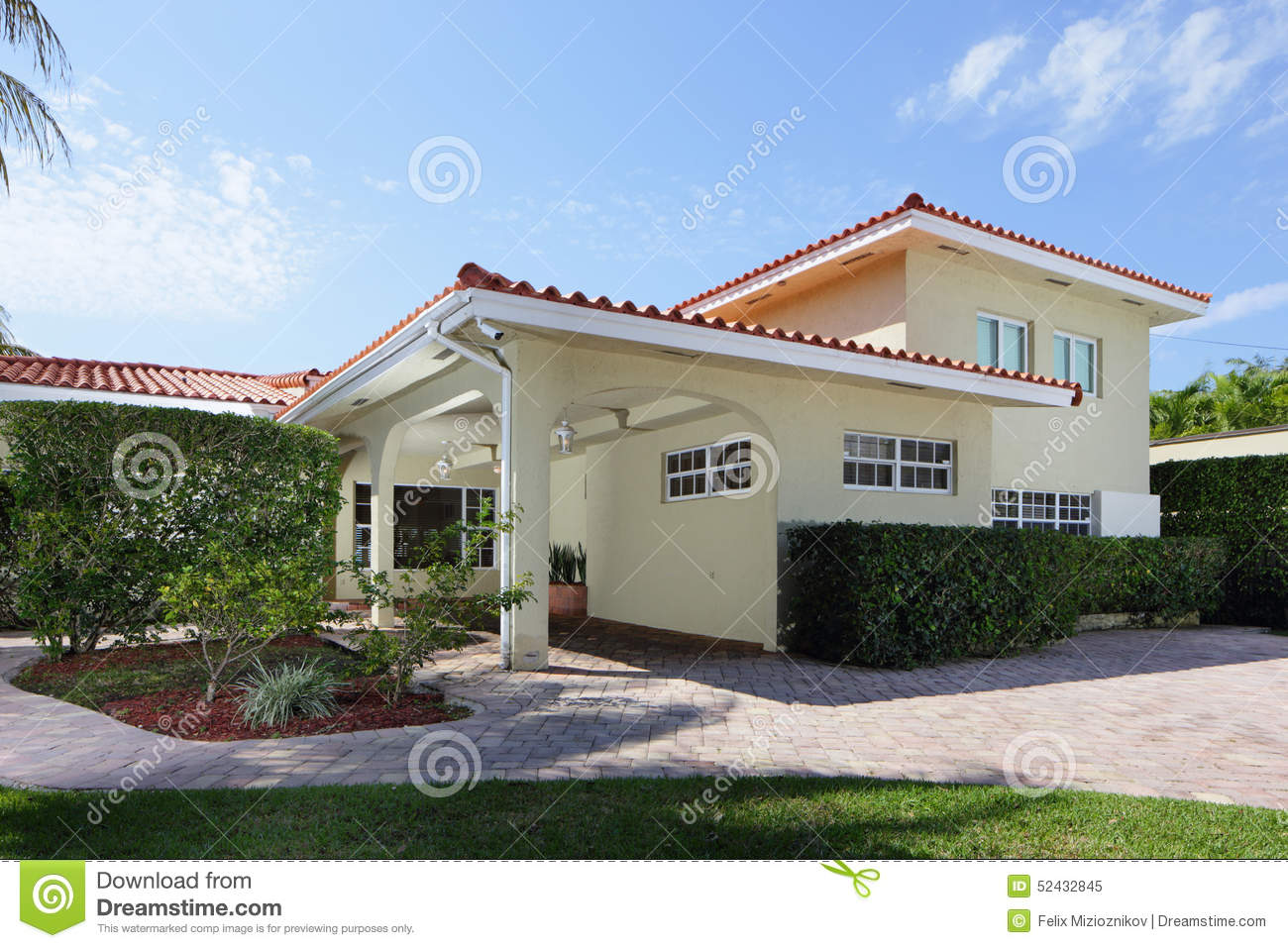 Luxury single family two story home stock photo image for Luxury single storey homes