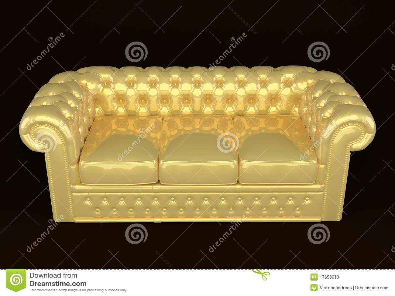 Luxury Couch Luxury Sofa With Golden Leather Royalty Free Stock Photos Image