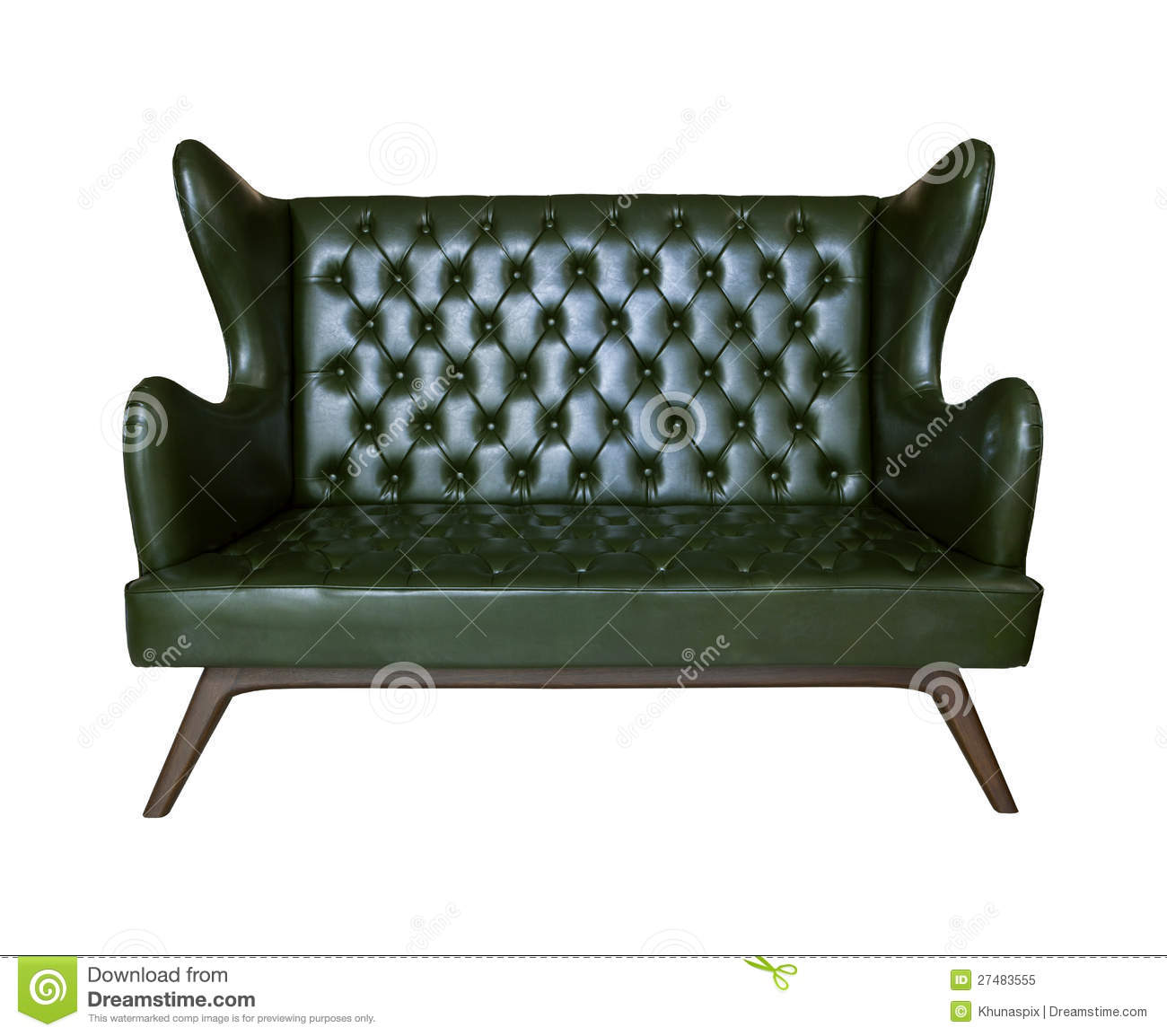 brown leather sofa isolated - photo #21