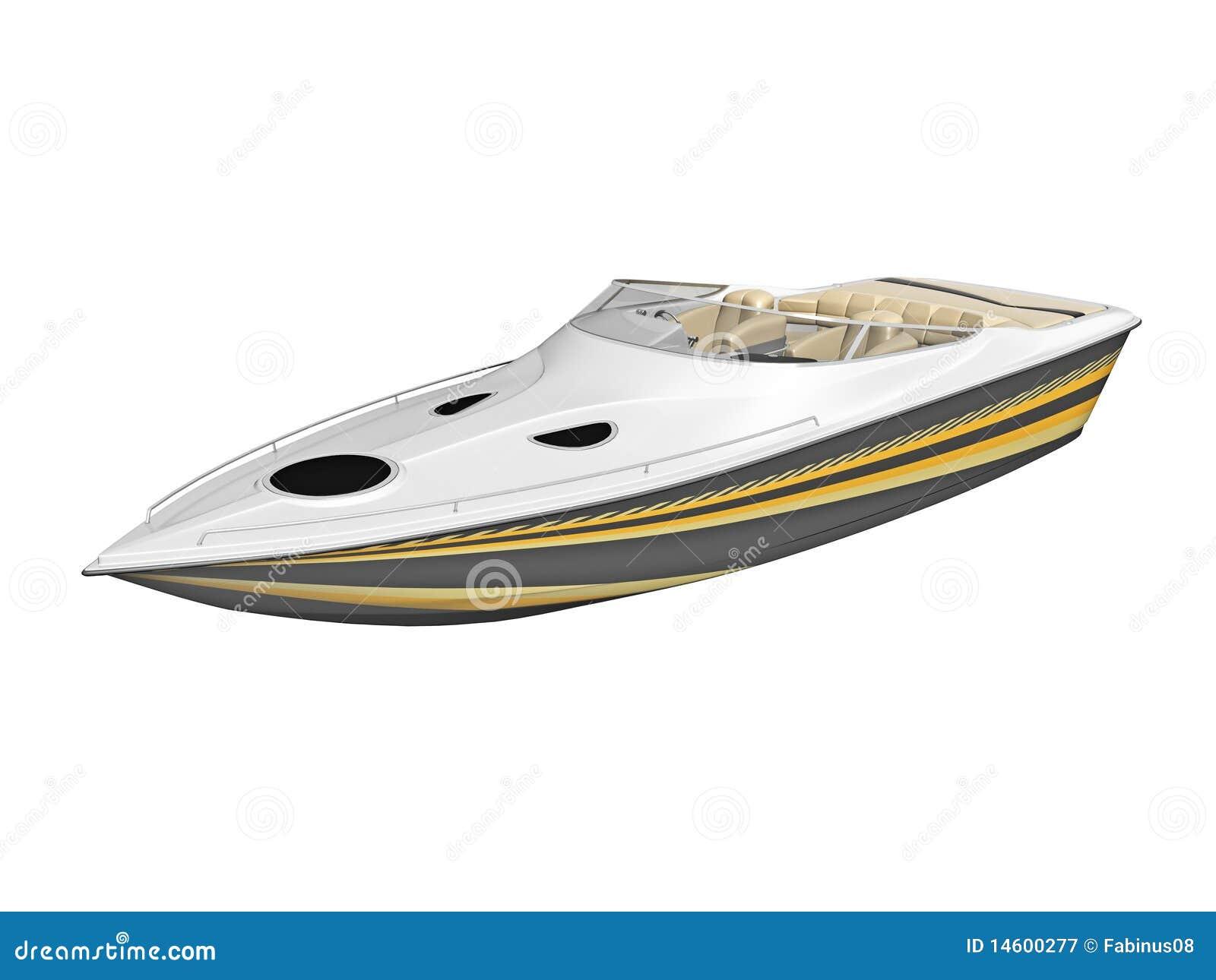 Luxury speed boat stock illustration. Illustration of machine - 14600277