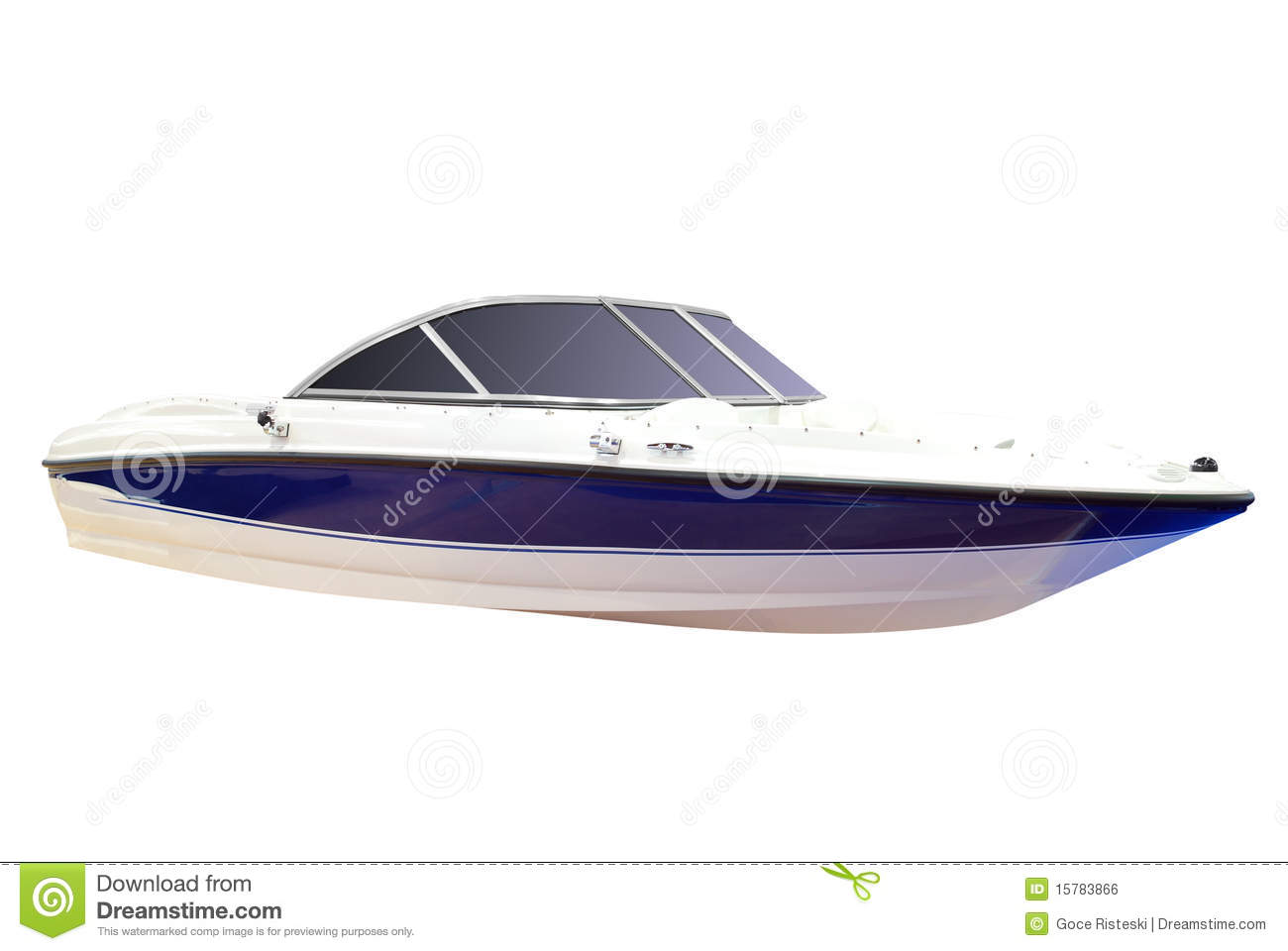 Luxury speed boat isolated