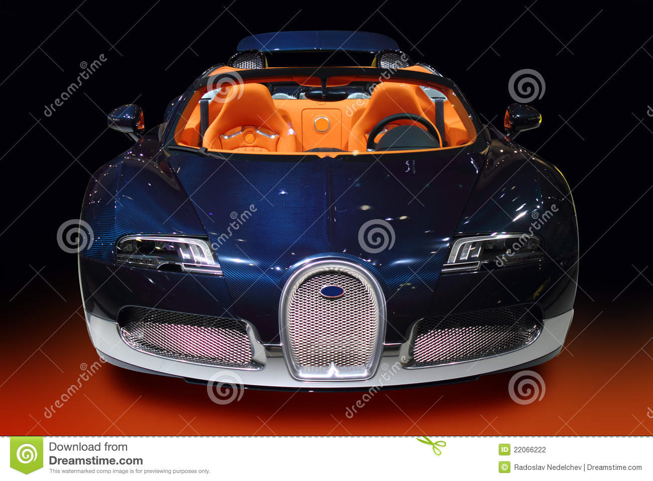 Luxury Sport Car Blue Carbon Stock Photography  Image ...