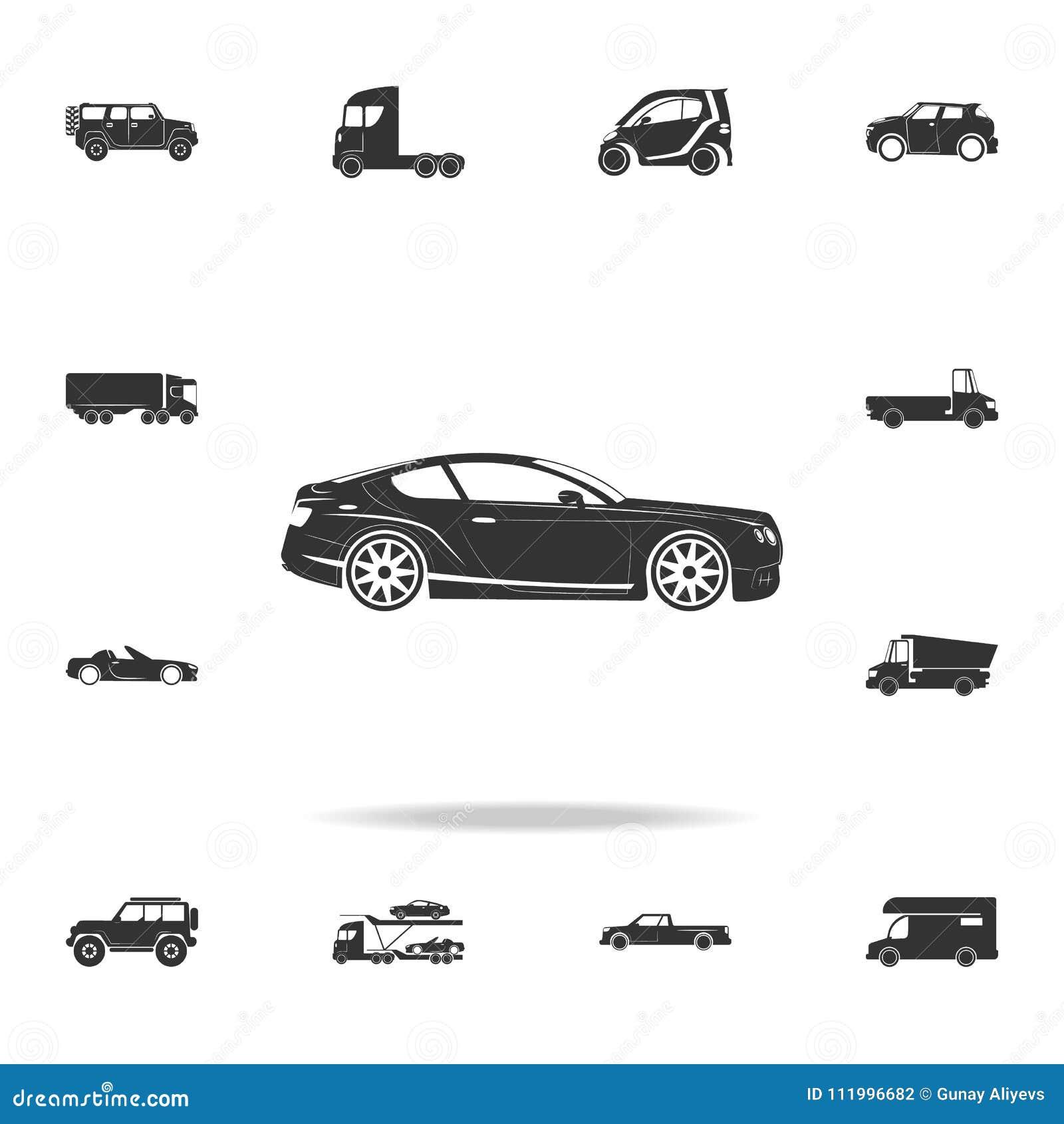 Luxury Sport Car Icon Detailed Set Of Transport Icons Premium