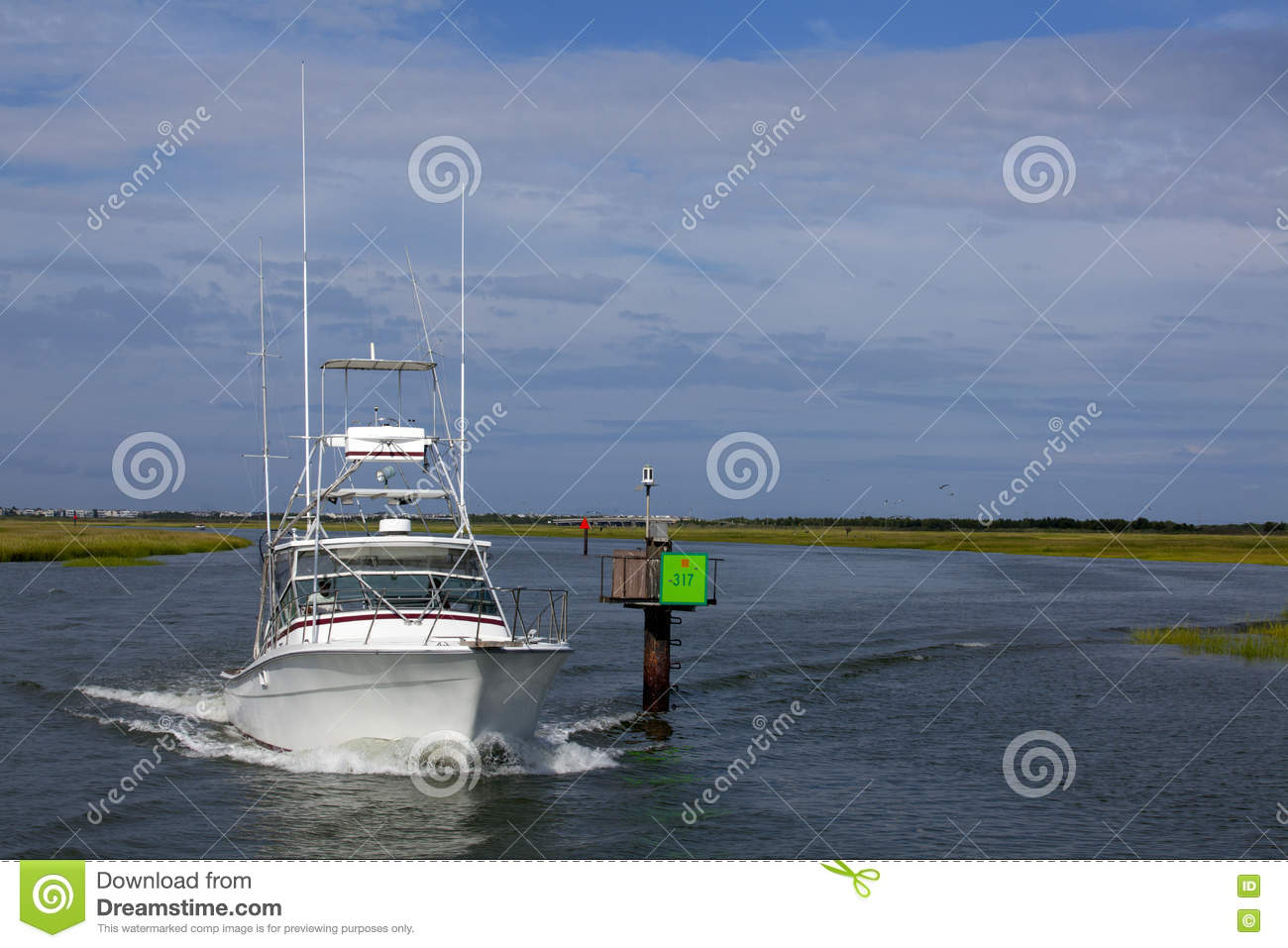 Tuna tower of sport fishing boat stock photography for Wildwood nj fishing charters
