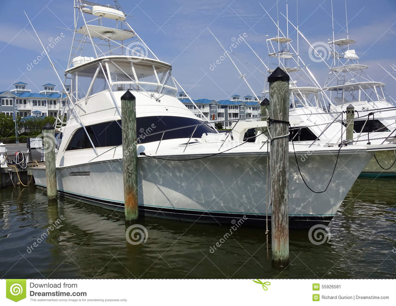 Luxury sport fishing boat stock image image of city for Md fishing license cost