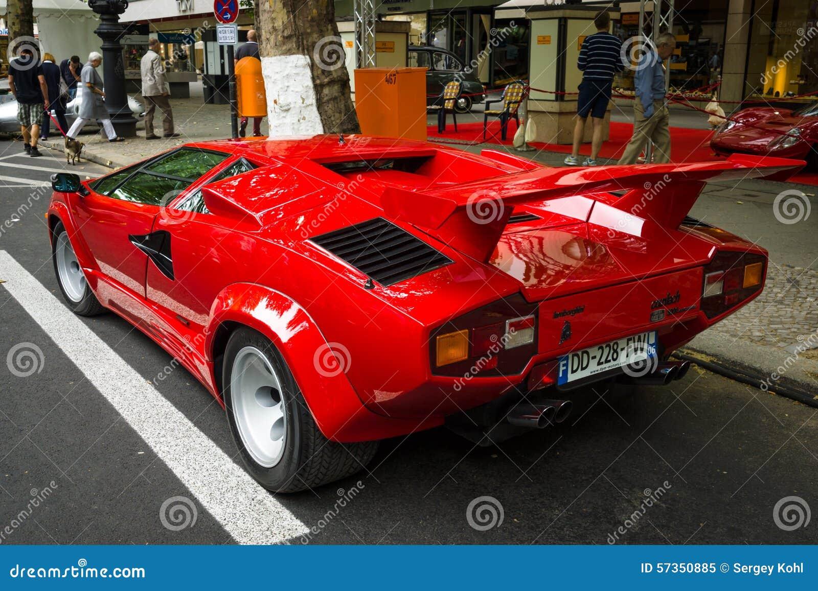 Luxury Sports Car Lamborghini Countach 5000 Quattrovalvole Editorial Image
