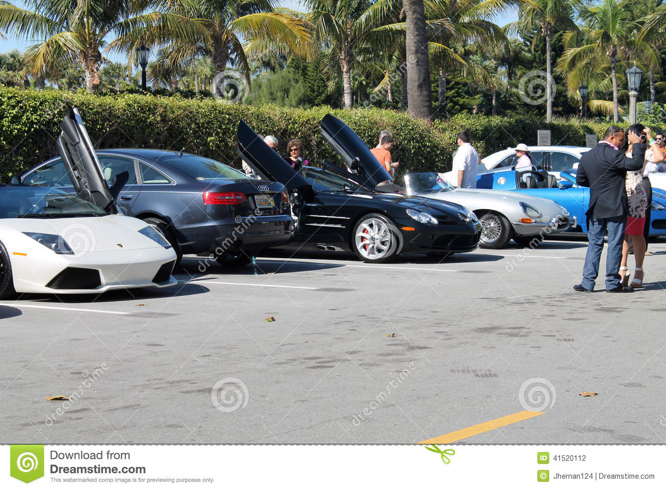 Luxury Cars Parked In A Parking Lot Editorial Stock Image Image Of