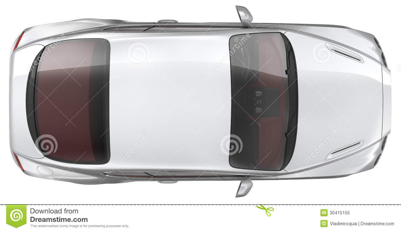Luxury Sports Coupe Car Top View Stock Illustration