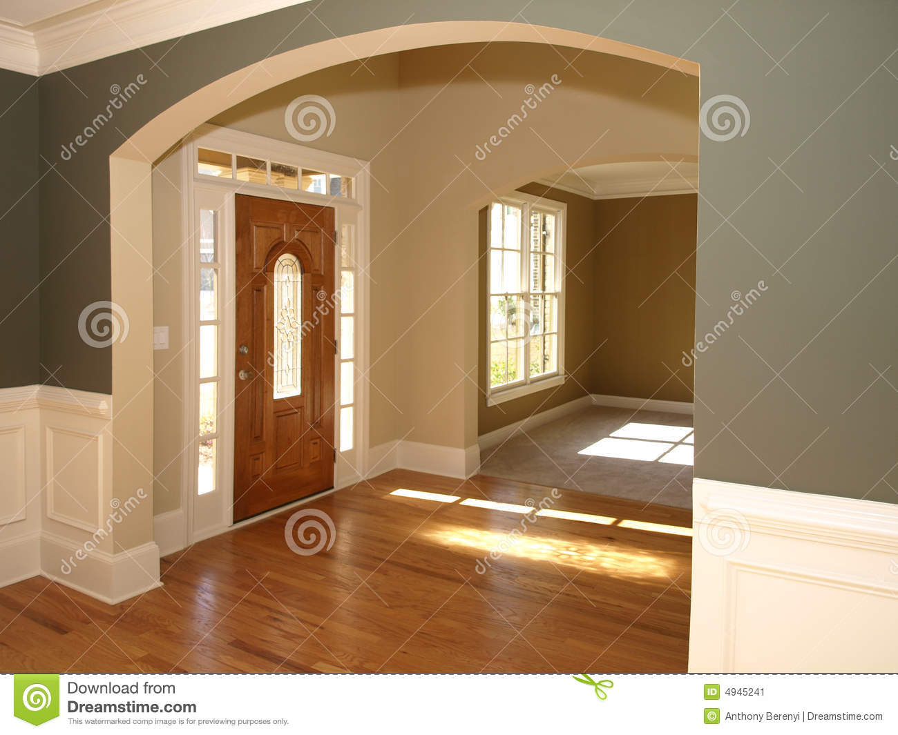 Luxury stained glass door with arch entrance stock image for Arch door design