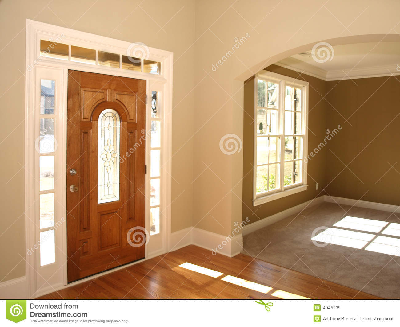 Luxury Stained Glass Door With Arch Room Royalty Free