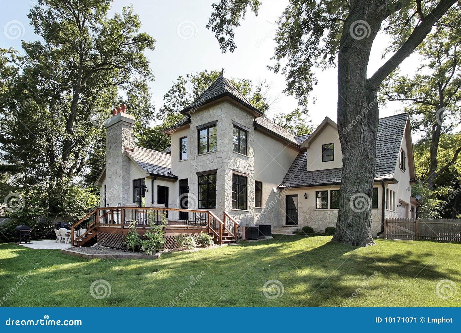 Luxury Stone Home Stock Image Image 10171071