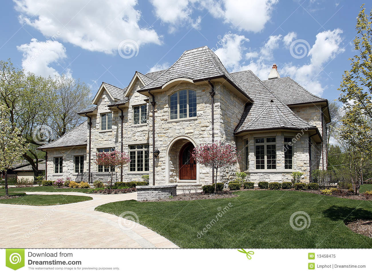 Luxury stone home royalty free stock photo image 13458475 for Free luxury home images
